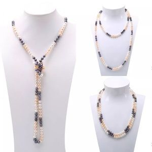 """Jewelry - PerfectNecklace &EarringsUChoose Color54"""" 8mm FIRM"""